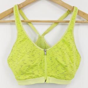 Victoria's Secret Sport Neon Green Front Zip Bra